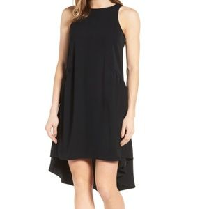 Pleione Ruffled High Low Dress NWT Size M Black